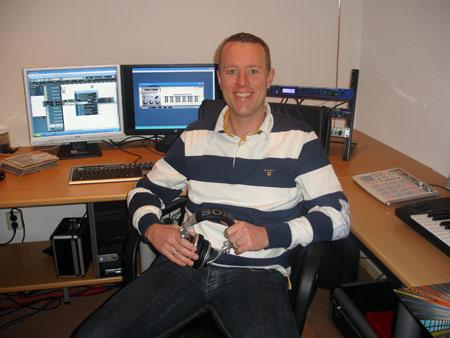 Sander van der Wal in zijn Studio